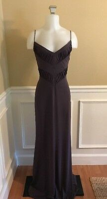 5d06239d NICOLE MILLER Designer Dress Light Gray Purple Formal Bodycon Maxi- Sz 8