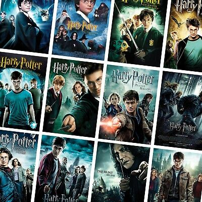 Ultimate Collection Of Classic Harry Potter Movie Posters A4 A3 260Gsm Glossy