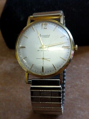 Vintage Accurist antimegnetic 21 jewel watch Working made in Swiss