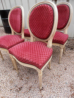 4 Chaises Medaillon Louis Xvi