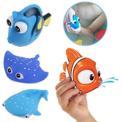 Baby Bath Toys Soft Rubber Animals Water Toys Squeeze Sound