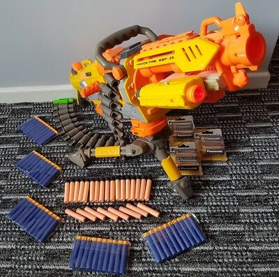 NERF HAVOK FIRE EBF 25 full auto belt fed machine gun + tripod + bullets 39.99p