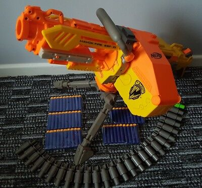 NERF HAVOK FIRE EBF 25 full auto belt fed machine gun + tripod + bullets 33.99p