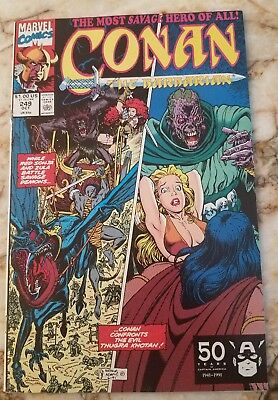 Conan The Barbarian #249 Vf+ Art Adams Cvr Red Sonja 1 Zula 1 High Grade Comic 1