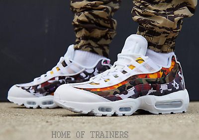 low priced ba833 e2431 Nike Air Max 95 Og Mc Sp Erdl Party Camo White Multi Men s Trainers All  Sizes