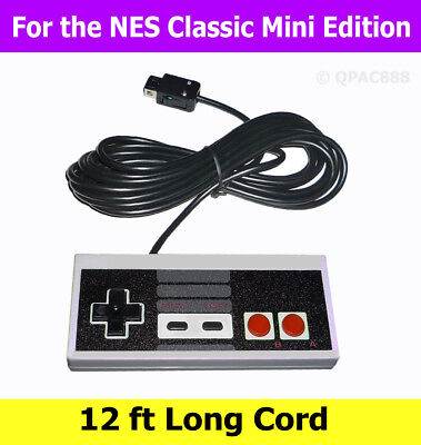 NES Classic Controller for Nintendo Mini Edition Game Console w/ 12ft Cable Cord