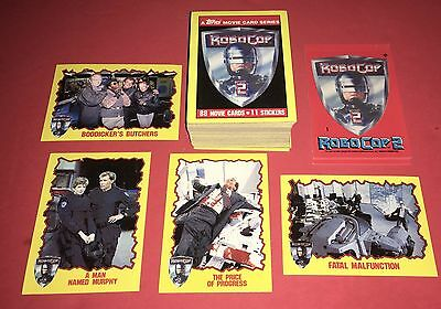 1990 Robo Cop 2 Complete Set Of 88 Trading Cards+11 Stickers By Topps