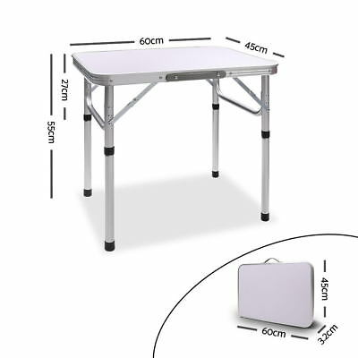 Portable Folding Camping Picnic Table 60x45cm Adjustable Height
