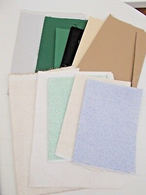 large lot of AIDA fabric for cross stitch - inc sparkly (lot 2)