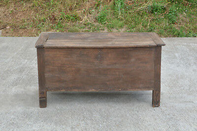 oak coffer old wooden antique coffer box wooden chest large oak 18th century