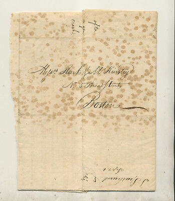 1809 Letter From Samuel Sparhawk Concord New Hampshire