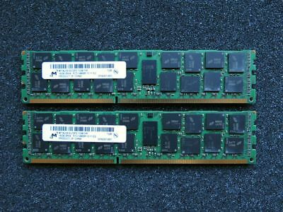 [32GB Kit] 2x Micron 16GB MT36JSF2G72PZ HF PC3-14900R DDR3 1866MHz ECC RDIMM