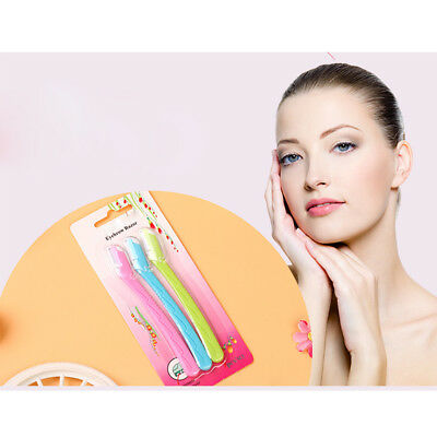 Cool 3p Facial Eyebrow Razor Trimmer Shaper Shaver Makeup Blade Remover Tool New