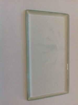 Bevelled Carriage Clock Glass Bevelled Rectangle  85mm 47mm