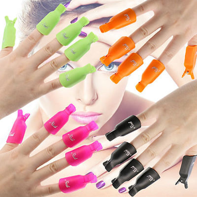 Multiple stylePlastic Nail Art Soak Off Clip Cap UV Gel Polish Remover WrapTools