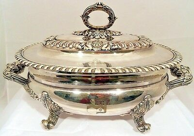An Old Sheffield Plate soup tureen, by Matthew Boulton, Sheffield c.1790.