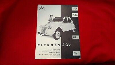 Original Citroen 2CV and 2CV Truckette Dealer Sales Brochure