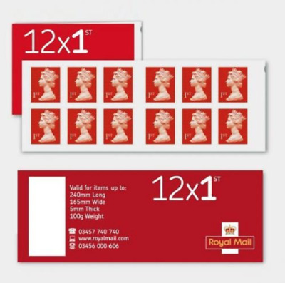 Royal Mail book of 12 first class stamps