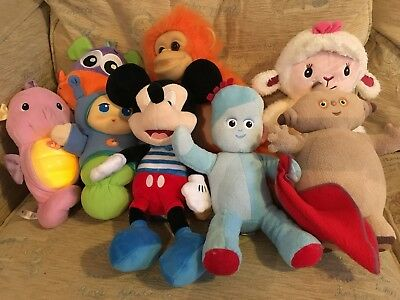 Large Joblot Bundle Soft Plush Battery Operated Talking Tv Character Toy Teddy