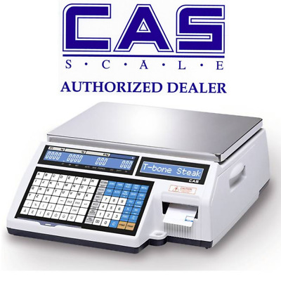 CAS CL5000B 60lb. Retail Price Computing Printing Scale (Bench model)