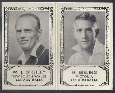 Barratt-Famous Cricket Folders X34 1934- New South Wales Victoria - O'reilly