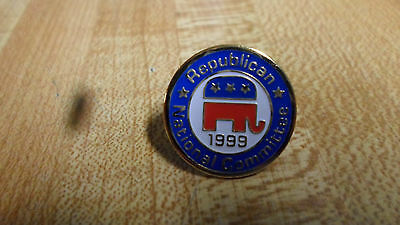 "Lapel Pin ""Republican National Committee 1999"" RNC Red-White-Blue"