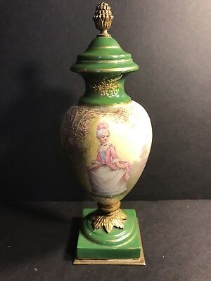An Antique Porcelain Sevres Vase Hand Painted And Signed Circa 1920