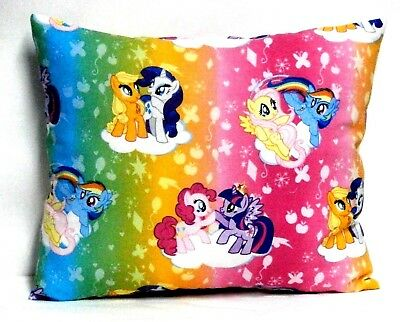 My Little Pony Toddler Pillow on multi-colors 100%Cotton MLP8-11 New Handmade