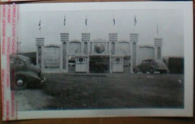 DODSONS  CIRCUS MIDWAY/CARNIVAL B&W-Photo-1939-Main Entrance