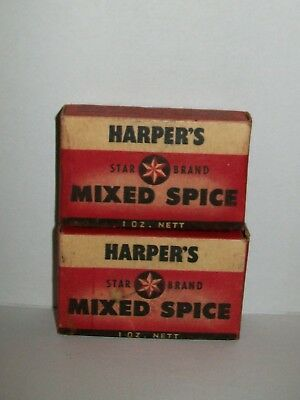 2 x VINTAGE HARPER'S STAR BRAND 'MIXED SPICE' PACKETS 1oz nett (unopened)