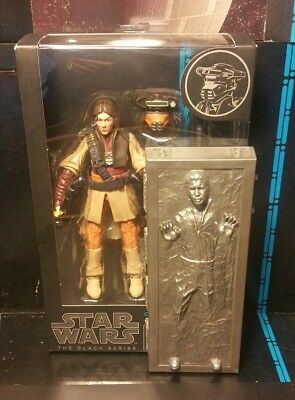 "Star Wars The Black Series 6"" PRINCESS LEIA ORGANA (BOUSHH) / Han solo Carbonite"