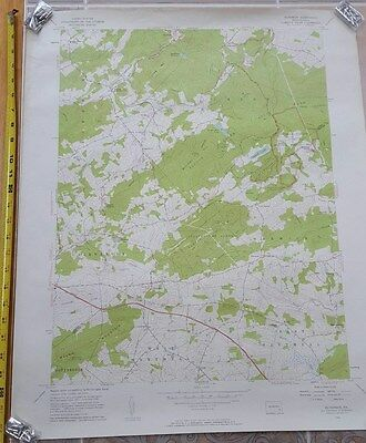 1956 Elverson Hopewell Nantmeal Berks County French Creek  Large Map Old Rare