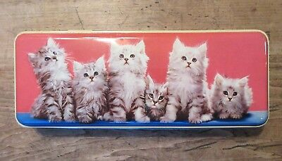 Vintage Thorne's Toffee Kitten Cat Candy Advertising Hinged Tin Leeds England