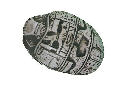 RARE ANCIENT EGYPTIAN ANTIQUE Statue Scarab Mummy Amulet Bead Nile Ca 1823 Bc