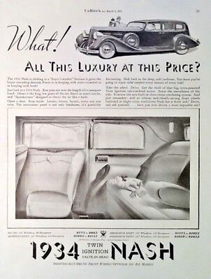 Vintage 1934 NASH Advertising