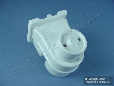 Leviton Fluorescent Lamp Holder Light Socket T8 T12 Round Plunger Bi-Pin 13570