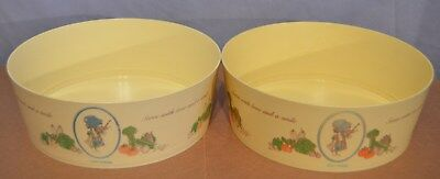 """Vintage Holly Hobbie 8 1/2"""" Bowls Collector Series From The Coca-Cola Company"""