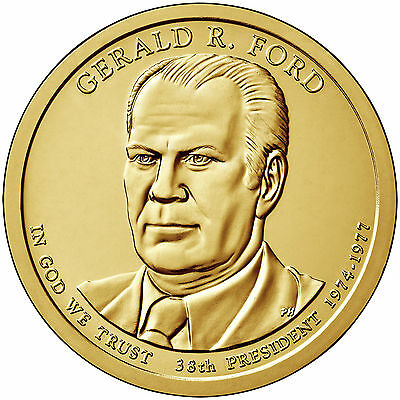 2016 8 Coin Set 4P and 4D President Ford Dollar Coins, Uncirculated  Nice