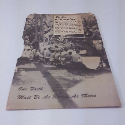 World War Ii 1941 Men's Day Service Of Worship Keeping Faith Program