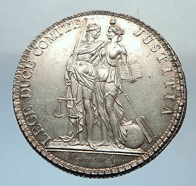 1805 FRANCE Antique Silver Jeton WOMEN PALM TREE French not Coin Medal i71316