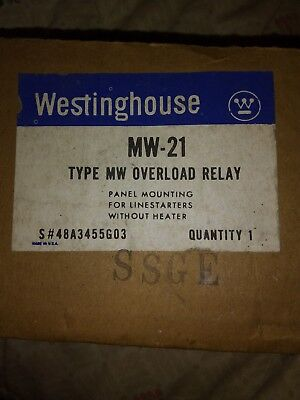 New In Box Westinghouse Mw-21 Type Mw Overload Relay