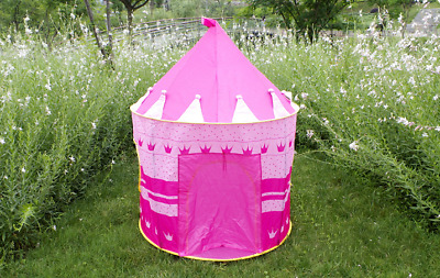 Kids Children Foldable Play Tent Outdoor Indoor Castle Cubby Playhouse Gift Toys