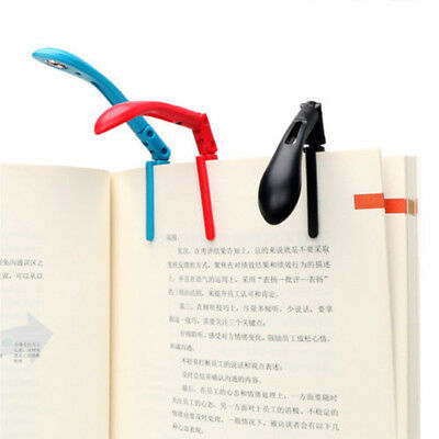 1Pc Portable Foldable Clip-on LED Reading Lamp with Battery Flexible Night Light