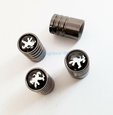 Car Logo Wheel Tire Air Valve Stems Caps Dust Covers Accessories For Peugeot