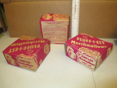 Fluff-i-Est 1930s marshmallows (1 box) vintage food candy box