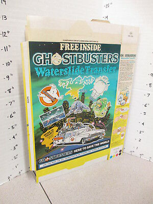 cereal box UK 1980s Nabisco CUBS premium transfers movie GHOSTBUSTERS monsters F