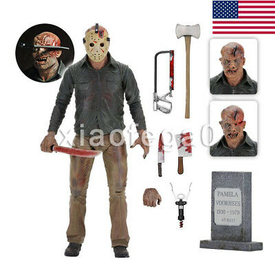 """Friday the 13th Part IV 3D JASON VOORHEES 7"""" Scale Ultimate Action Figure In USA"""