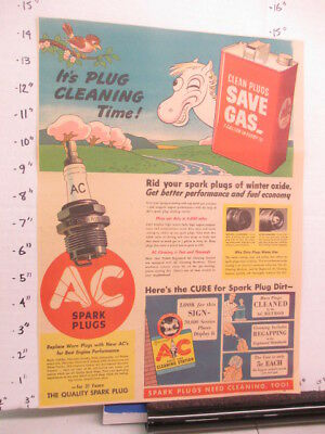 newspaper ad 1940 American Weekly AC SPARK PLUGS car automobile horse comic