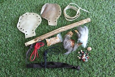 Pagan/Shaman Rattle Kit. Holes Punched In Rawhide Rattle.  Craft Your Own Rattle