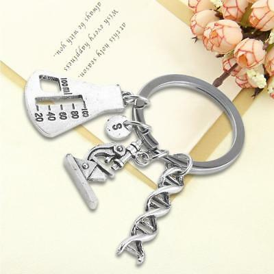 Chemical Molecule DNA Spiral Medical Microscope Triangle Bottle Gene Key Buckle